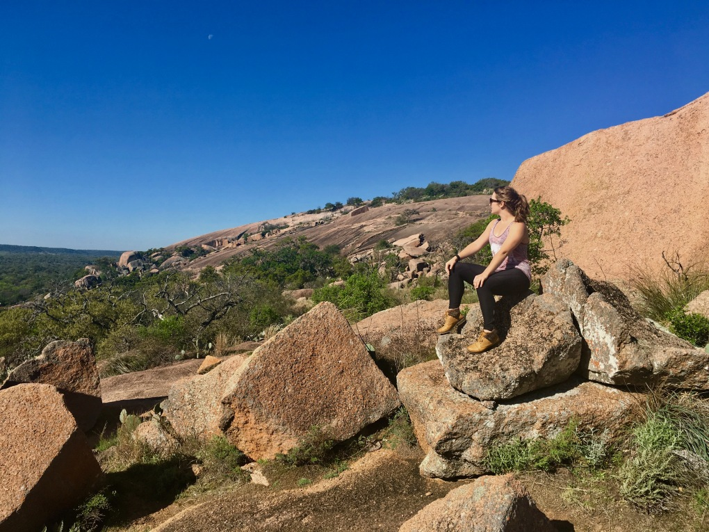 At Enchanted Rock outside of Fredericksburg, Texas