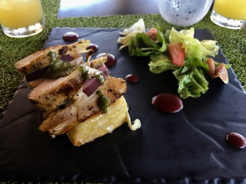 Pesto chicken focaccia at The Grill at Paradisus La Perla, Playa Del Carmen