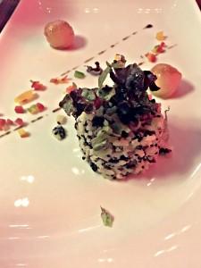 Los Andes salad at the Fuego restaurant at the Paradisus La Perla in Playa Del Carmen
