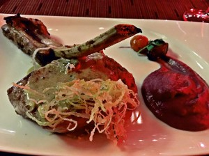 Veal chop at the Fuego restaurant at the Paradisus La Perla in Playa Del Carmen