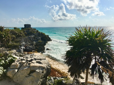 The ruins in Tulum, Mexico