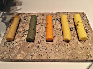 The butter pairing at Passion by Martín Berasategui in Playa Del Carmen