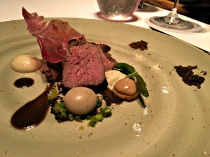 Picanha with truffled tubers and olives at Passion by Martín Berasategui in Playa Del Carmen