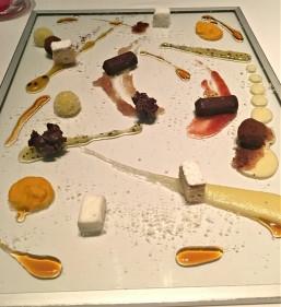 Chef's dessert treat at Passion by Martín Berasategui in Playa Del Carmen