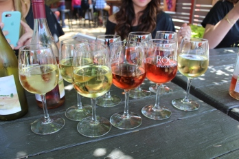 Wine at Roche Winery in Sonoma, CA