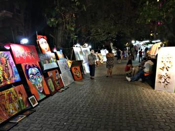 Art on 5th street in Playa Del Carmen, Mexico