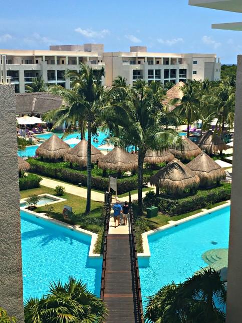 The view of the pool at the Paradisus La Perla, Playa Del Carmen