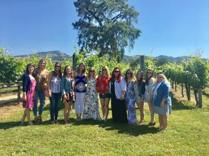 "My ""Bride Tribe"" at Loxton Winery in Sonoma, CA"