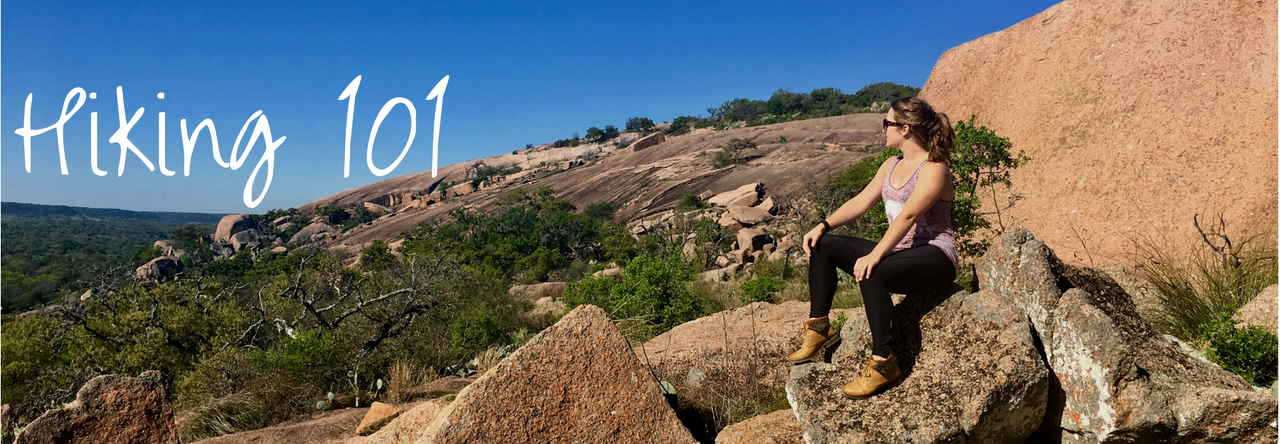 Hiking through Enchanted Rock outside of Fredericksburg, Texas