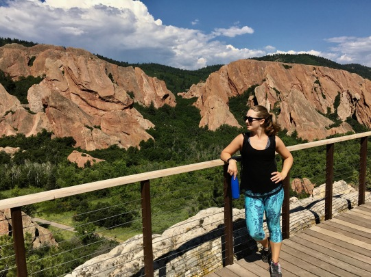 Hiking through Roxborough State Park, Colorado