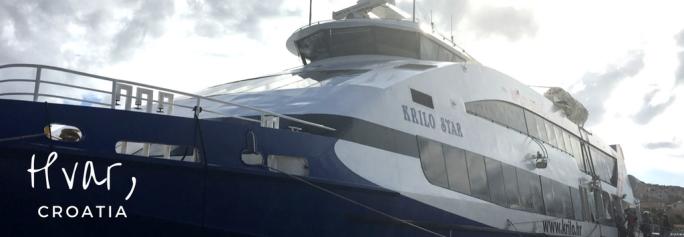 The boat to Hvar, Croatia