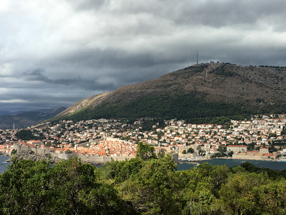 The view of Old Town on the Island of Lokrum, Croatia