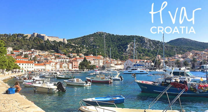 The harbor in Hvar, Croatia