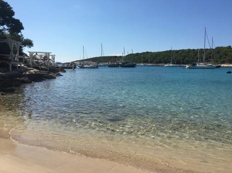 Island hopping around the Pakleni Islands in Croatia