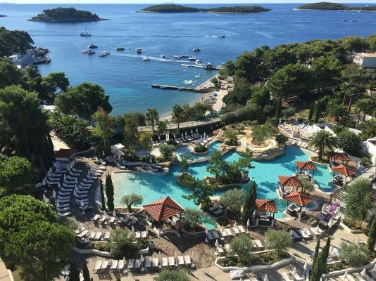 Our view at the Amfora Hvar Grand Beach Resort in Croatia