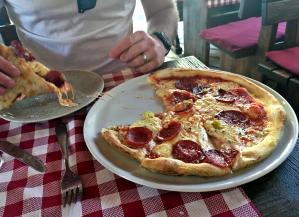 Pizza in Split, Croatia