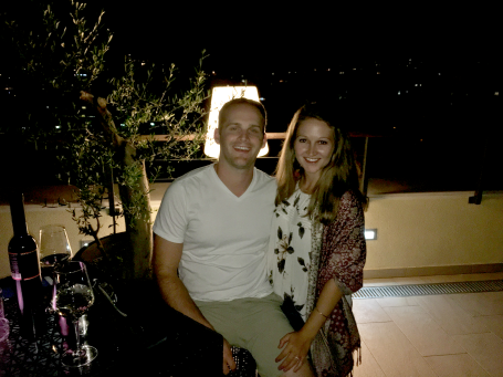 Dancing the night away on the rooftop of the at the Hotel Coronaro in Split, Croatia