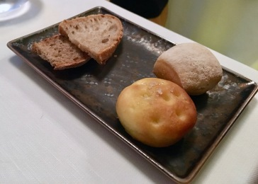 The heavenly bread selection at Il Pagliaccio in Rome, Italy