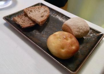 The heavenly bread selection at Il Pagliaccio in Rome, Italy