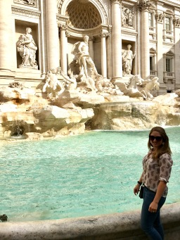 At the Trevi Fountain in Rome, Italy