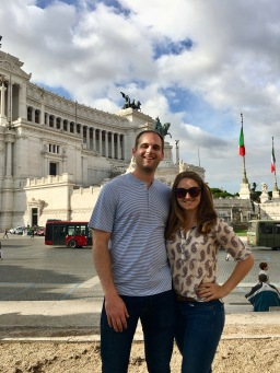 Outside of the Altare della Patria in Rome, Italy