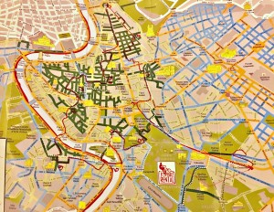 Our TopBike tour map of Rome