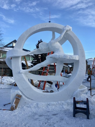 Snow sculpture competition in Breckenridge, Colorado