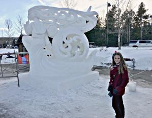 Snow sculpture competition in Breckenridge, Colorado