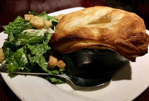 Venison pot pie at the Blue Stag in Breckenridge, Colorado