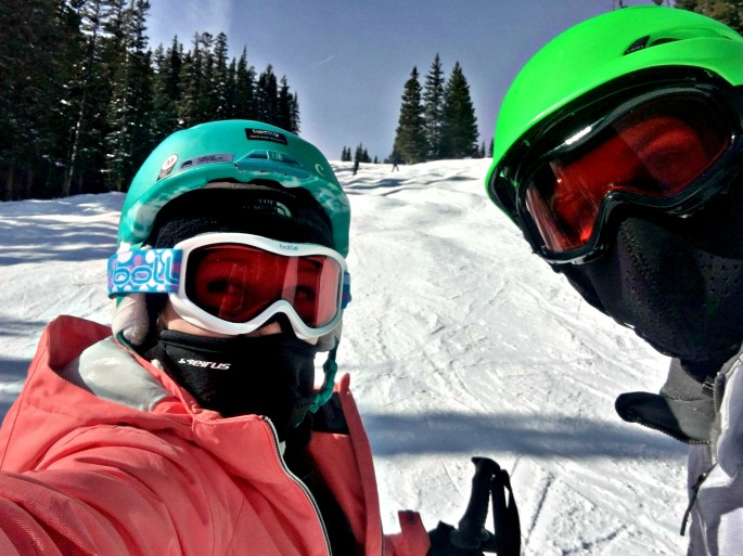 We made it down the moguls on peak 9 in Breckenridge, Colorado