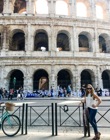 Standing outside of the Colosseum in Rome, Italy