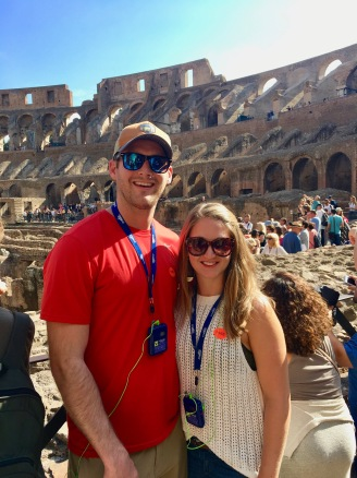 Touring the Colosseum in Rome, Italy