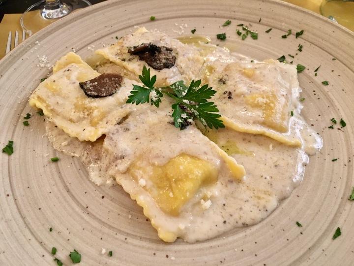 Truffle ravioli in Florence, Italy