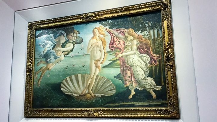 The Birth of Venus at the Uffizi Gallery in Florence, Italy