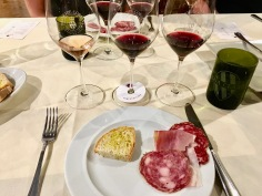 Our wine and meat pairing at Villa Li Corti in Italy