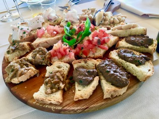 Bruschetta in Tuscany, Italy