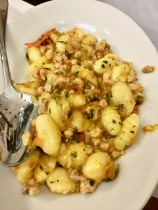 Gnocchi at il Latini in Florence, Italy