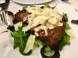 Steak at il Latini in Florence, Italy