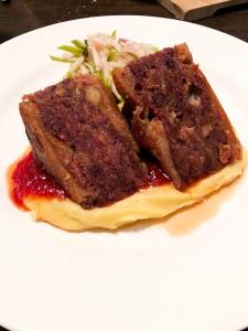 Crispy pork from Huhu Cafe in Waitomo, New Zealand