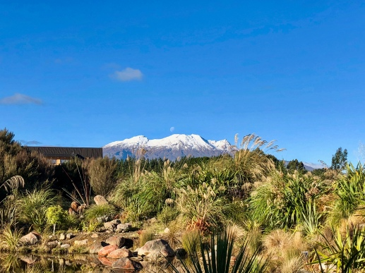 The view from our room at the Tongariro Suites @ The Rocks in Tongariro, New Zealand