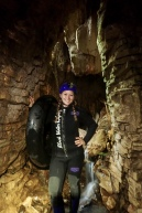 Going in to the cave for the Black Labyrinth Tour in Waitomo, New Zealand