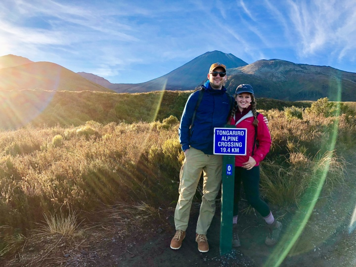 About to embark on the Tongariro Alpine Crossing in New Zealand!