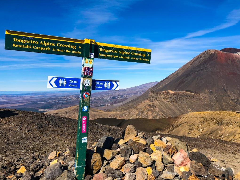 The peak of the Tongariro Alpine Crossing, New Zealand