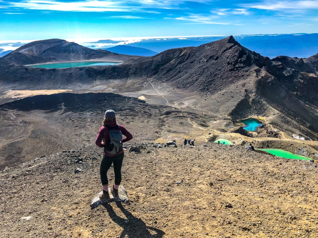 The lakes at the top of the Tongariro Alpine Crossing, New Zealand
