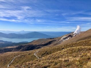 Hiking the back half of the Tongariro Alpine Crossing, New Zealand