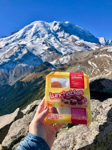 Lunch on our hike up Mt. Rainier