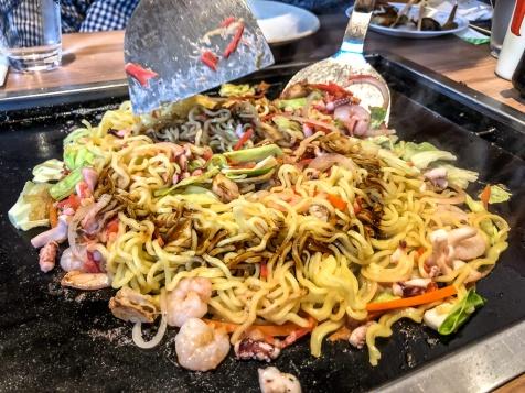Teppanyaki lunch in Tokyo, Japan