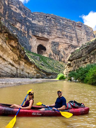 Kayaking through Big Bend National Park, Texas