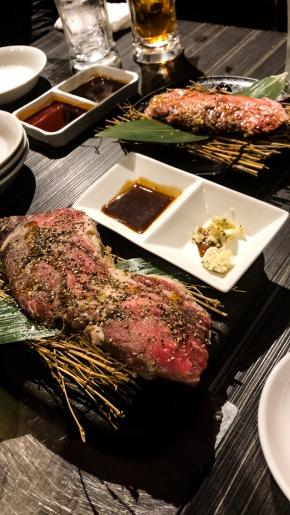 Yakiniku style dinner in Osaka, Japan