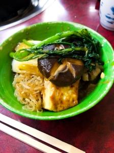 Sukiyaki dinner in Tokyo, Japan